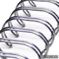 Спираль для биндера Zutter - Bind-It-All - цвет античное серебро, 19 мм, 6 штук
