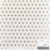 """Прозрачный ацетатный лист с золотым фольгированием от Polkadot """"В горошек"""""""