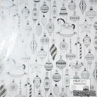 """Прозрачный ацетатный лист с серебряным фольгированием от Polkadot """"Ёлочные игрушки"""""""
