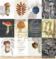 """Лист односторонней бумаги для скрапбукинга от EcoPaper - """"Карточки"""" из коллекции """"Осенний лес"""", 30.5х30.5 - ScrapUA.com"""