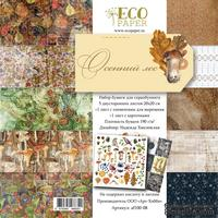 """Набор бумаги от EcoPaper - """"Осенний лес"""", 20x20 см - ScrapUA.com"""