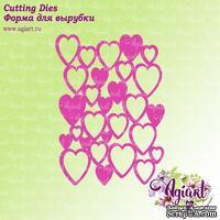 NEW. Нож для вырубки от AgiArt - Сердечки фоновый