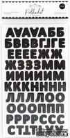 """Картонные стикеры - алфавит """"Черный"""" от Polkadot, 144 шт."""