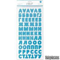 """Картонные стикеры - алфавит от Polkadot """"Небесный"""""""