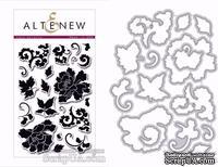 Штампы + Ножи для вырубки от Altenew - Lacy Scrolls Die set - Кружевные завитки,15 шт