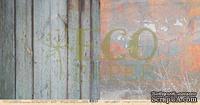 """Лист двусторонней бумаги для скрапбукинга от EcoPaper - """"Старая калитка"""" из коллекции """"Среди лугов""""."""