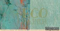 """Лист двусторонней бумаги для скрапбукинга от EcoPaper - """"Сквозь стены"""" из коллекции """"Среди лугов""""."""