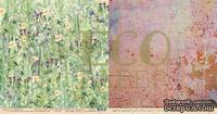 """Лист двусторонней бумаги для скрапбукинга от EcoPaper - """"Цветущий луг"""" из коллекции """"Среди лугов""""."""