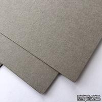 Дизайнерский картон с фактурой льна Sirio tela pietra, 30х30 см,  серый, 290 г/м2, 1 шт