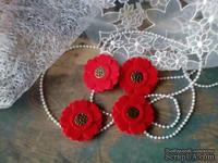 Набор цветов из фетра ручной работы-Avalanche - Red