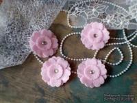 Набор цветов из фетра ручной работы-Avalanche - Pink