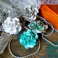 Набор бумажых цветов ручной работы-Avalanche - Aquamarine