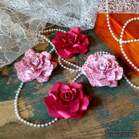 Набор бумажых цветов ручной работы-Avalanche - Viola