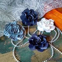 Набор бумажых цветов ручной работы-Avalanche - Blue Moon
