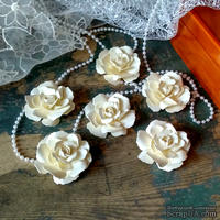 Набор бумажых цветов ручной работы-Avalanche - Ivory