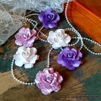 Набор бумажых цветов ручной работы-Avalanche - Violetta