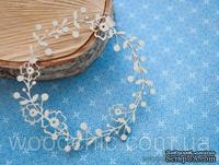 Чипборд Венок цветочный с ягодами от WOODchic, 10см