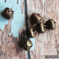 Бубенчик, 14 мм, цвет бронза, 1 шт.