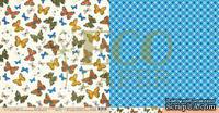 """Лист двусторонней бумаги для скрапбукинга от EcoPaper - """"Мотыльки"""" из коллекции """"Атлас бабочек""""."""