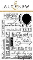 Набор штампов от Altenew - Birthday Greetings - Поздравления с днем Рождения, 17 шт