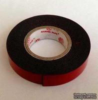 Скотч двухсторонний объемный ЧЕРНЫЙ на пенной основе, 12мм х 2м, 1шт.