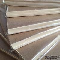 Блок листов дизайнерской бумаги А5, цвет ванильный,120гр/м.кв, толщина 1см, 60 листов
