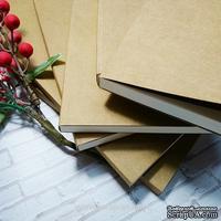 Блок для блокнота А5. Цвет: молочный, форзац крафт, 80 листов, 90 гр/м - ScrapUA.com