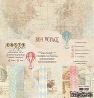 "Набор бумаги ""Bon Voyage"" от Craft Paper, 30x30см"