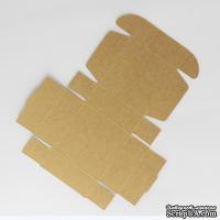 Коробочка упаковочная, крафт-картон, 7,2*7,2*2,7 см, 1 щт.
