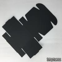 Коробочка упаковочная, черный картон, 7,2*7,2*2,7 см, 1 шт.