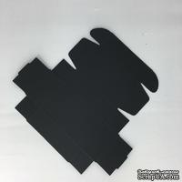 Коробочка упаковочная, черный картон, 9,3*5,7*3 см, 1 шт.