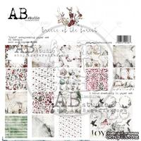 "Набор бумаги от ABstudio - ""Breeze of the forest""- scrapbooking paper set 8x 30х30см + bonus"