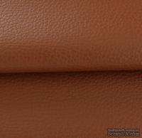 Экокожа, цвет - коричневый, толщина 0.6 мм, 50Х70 см