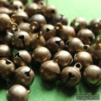 Бубенчик, 9 мм, цвет бронза, 1 шт.,14970