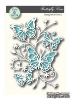 Маска от Memory Box - Butterfly Vine Memory Box Stencil