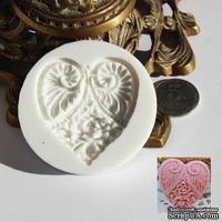 Силиконовая форма (молд) - Сердце, размер: 55х48 мм, высота 8 мм