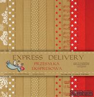 Набор бумаги Galeria Papieru - Przesyłka Ekspresowa, 30,5 x 30,5 см, 12 листов