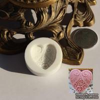 Силиконовая форма (молд) - Сердце, размер: 24 мм