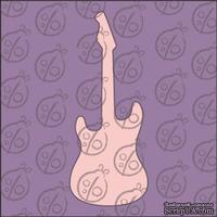 Чипборд. Мини. Гитара, 3,5х1,5 см