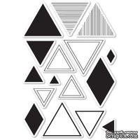 Штампы от Memory Box - Equal Triangle clear stamp set