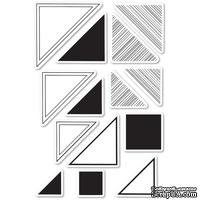 Штампы от Memory Box - Looking For Mr. Right Triangle clear stamp set - ScrapUA.com