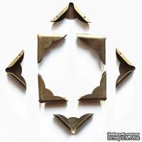 Набор металлических уголков, волнистых, 23х23х5 мм, 4 шт.
