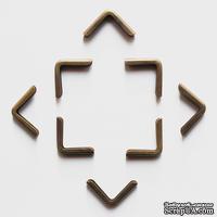 Набор металлических уголков, закругленных, 16х16х2 мм, 4 шт