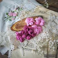 Набор цветов Фэнтази, ежевика-розовый от WOODchic, 4,5 см, 6шт.