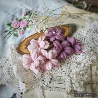 Набор цветов Фэнтази, винтаж-слива от WOODchic, 4,5 см, 6шт.