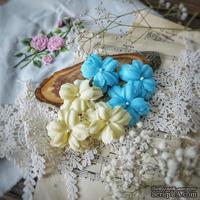 Набор цветов Фэнтази, жёлто-голубой от WOODchic, 4,5 см, 6шт.