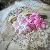 Набор цветов Фэнтази, нежно розовый-розовый от WOODchic, 4,5 см, 6шт.