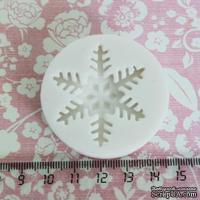 Силиконовая форма (молд) - Снежинка средняя, размер: 37 мм