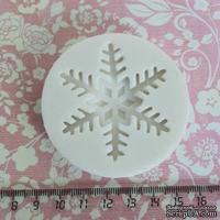 Силиконовая форма (молд) - Снежинка большая, размер: 52 мм