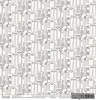 """Бумага для скрапбукинга от Polkadot - Папина одежда """"Папа может всё"""""""